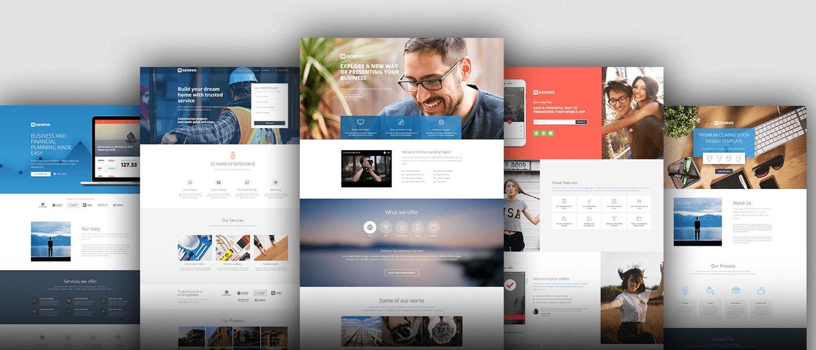 Ejemplos de diseños para páginas webs