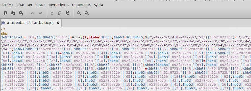Código maliciooso en archivo con contenido pirateado