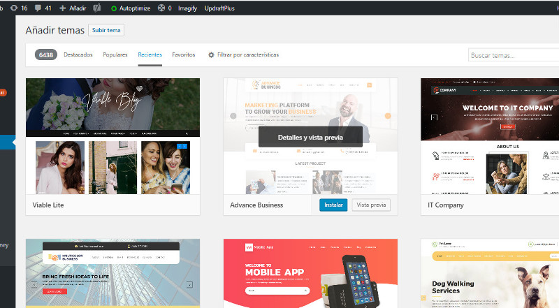 Directorio Temas WordPress