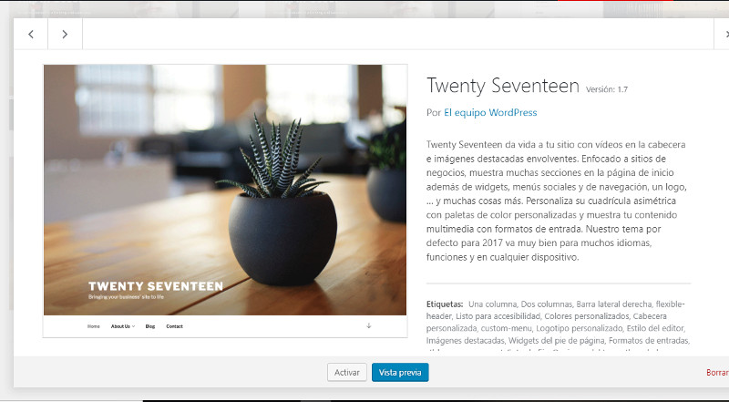 Plantilla Twenty Seventeen